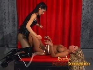 Mesmerizing blonde slave girl dominated by the merciless Nat