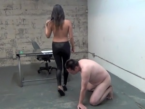 Goddess Angelina cruel business woman busts balls Asian