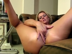 Amazing mother fingering her thirsty holes