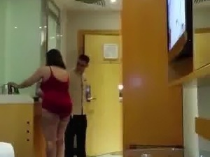 Arabian cuckold with his bitch in hotel