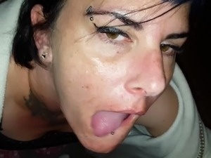 suck cock and cumshot into mouth