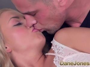 DaneJones Cute cock sucking blonde groans for passionate sex