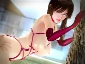 Hot Teacher Milf gets fucked outside (3D Animated)