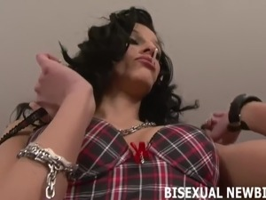 Lets start your first bisexual threesome slowly