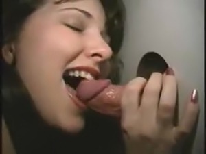 Amateur wife at the bookstore gloryhole