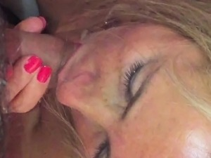 Horny British MILF can't wait to suck a dick and get pounde