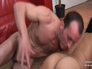 Chubby big titted french hard sodomized with cum 2 mouth