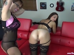 Lesbian MILF Ass Spitting with Mindi Mink and Lee aka Red