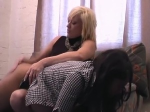 Ebony spanked OTK and with Belt