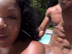 Bubble Butt Fucked At The Pool!