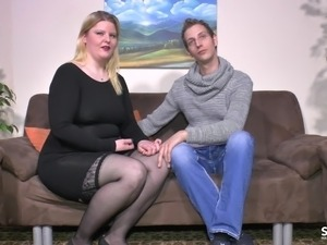 SextapeGermany - Amateur BBW German drilled in a hot sextape
