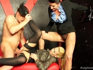 Dominate women humiliate and use their male slave and fuck him