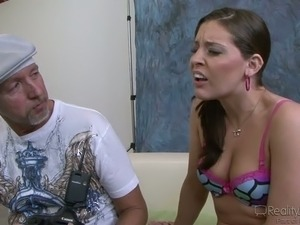 Too Big For Teens cock hungry brunette