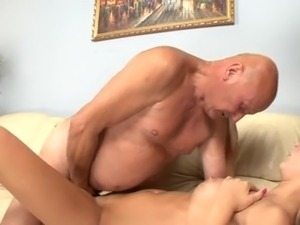 Old man fuck his young GF