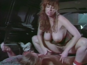 Vintage fucking in the back of his van with a busty chick