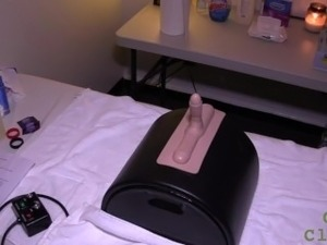 Sybian Prostate Milking with Gloved Handjob
