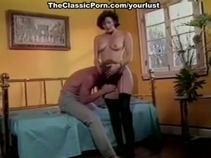 Short haired sexy brunette classic hoe in stockings gets banged mish
