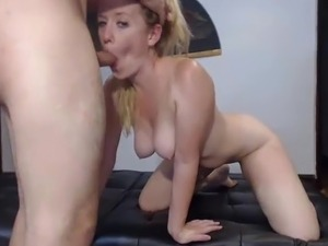 Blonde milf wife hard fucked in all positions, live show