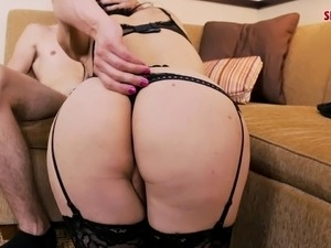 Lovely shemale so alluring while on the receiving end of hardcore anal sex