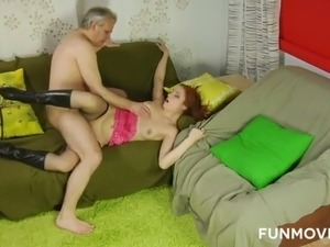 Old dude picked up young chick and fucked her hard