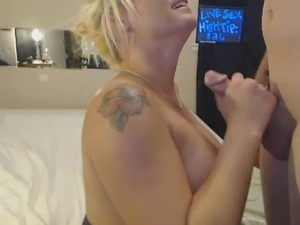 Blonde Curvy Babe Sucks Cock And Gets Fucked