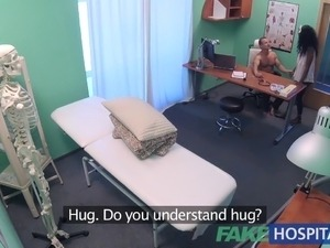 FakeHospital tight ebony pussy gets 2 cum loads from doctor