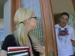 Vulgar Girl With Glasses Loves Hardcore Sex