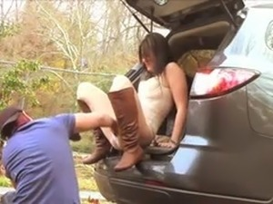 hot chick roadside fuck