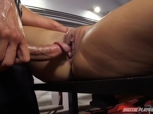 Lucky guy's wife lets him bang his hot secretary at work