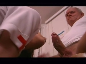 Old men fuck young woman doctor in nursing home