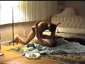 Wife fucks black stud husband films