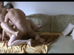 Amateur BI MMF - Sofa Sex