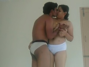 Mallu beautiful chubby wife with her lover leaked video - 2