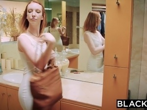 BLACKED Red head wife goes crazy on big black cock