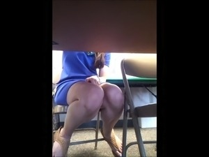 Teacher Under Table Upskirt!