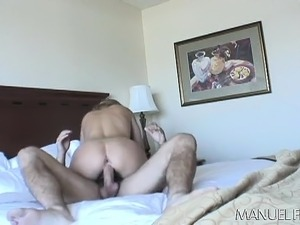 Cum sucking blonde gets a big uncut prick to fuck and swallow