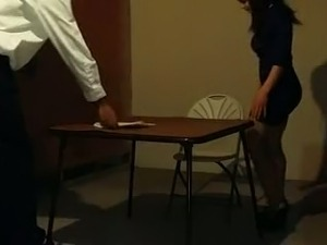 Stunning Indian student is sucking dick of her teacher