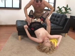Girl after anal sex swallows cum