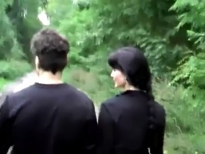 Femdom Strapon Fucking In Forest.