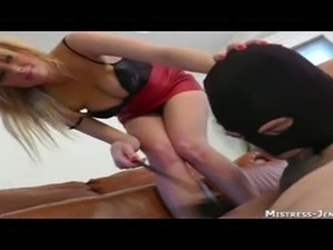 Femdom Mistress Alexis dominates two bi boys