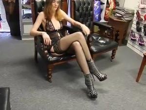 Sexy Butt Long Legs in Black Stockings Lingerie High Heels