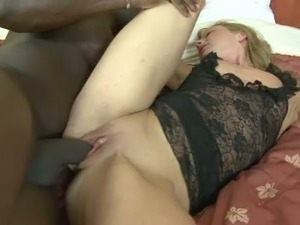 Black pussy destroyer bangs wet white punani in hardcore porn video