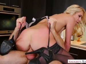 High maintenance lady fucked brutally in a doggy position