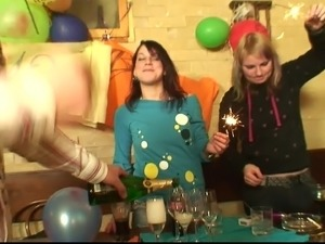Birthday party turns into a hardcore group sex party