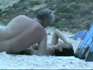 My buddy's kinky vid of lots of amateur naked couples on the nudist beach
