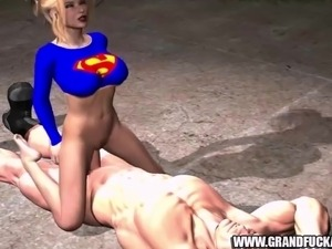 Super man enjoys fucking super girls