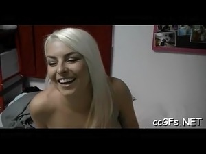 Teen sweetheart rides and blows dick