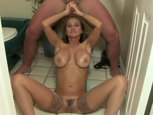 slutty wife blows and jerks cock for facial