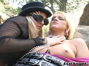 Hot lesbian hookers toy fucking and licking cunt and ass