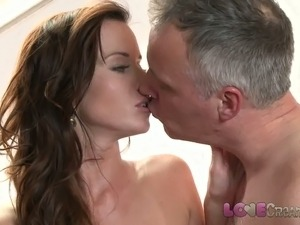 Love Creampie Busty mom in stockings takes cum inside her st